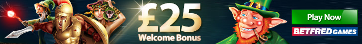 Betfred Games 25 Free Welcome Bonus