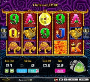 Screenshot image of the 5 Dragons Slot Game