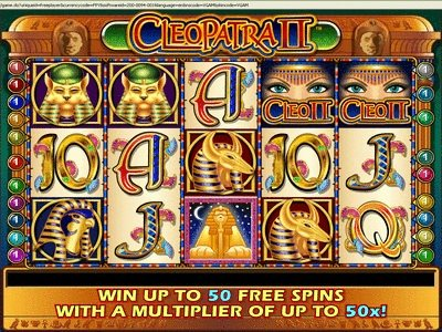 Screenshot image of the Cleopatra 2 slots