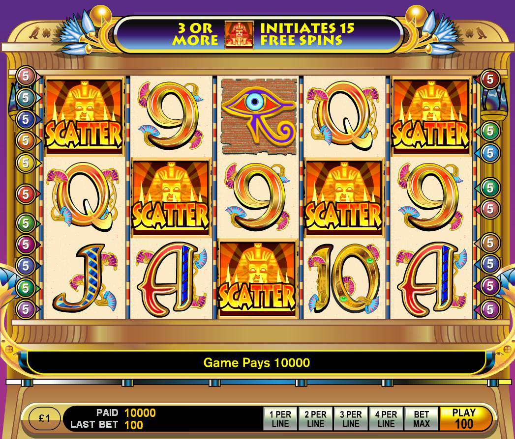 Cleopatra Slot Game Bonus Screen