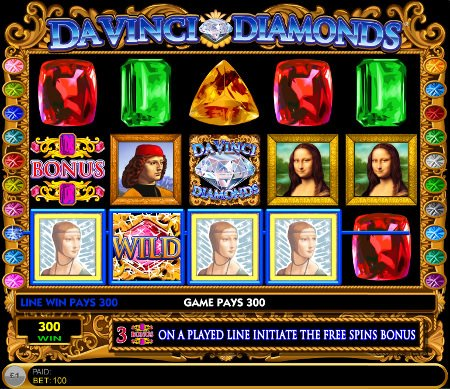 DaVinci Diamonds Slot Screenshot