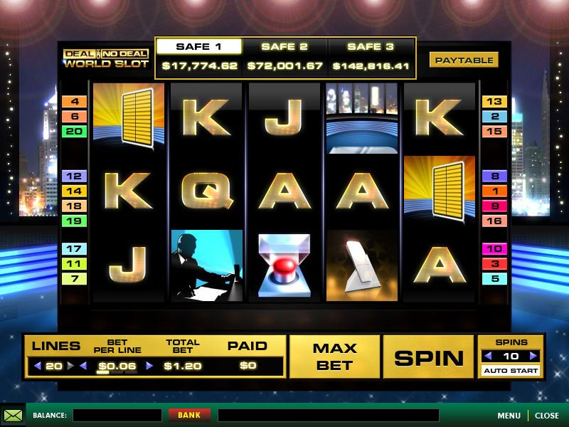 Screenshot image of the Deal or No Deal Slot Game