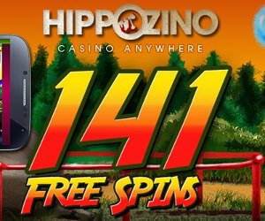 Banner of the Hippozino casino free spins