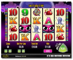 Screenshot image of the Miss Kitty Slot Game