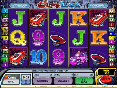 Screenshot image of the Supe it Up Video slot game