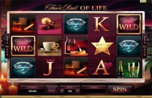 Screnshot image of the Finer Reels of Life slot