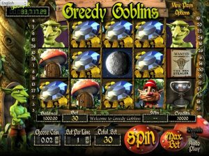 Screenshot image of the Greedy Goblins slot game from Betsoft