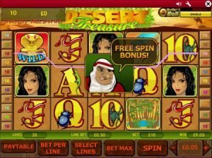 Screenshot image of Desert Treasure Slot from Playtech