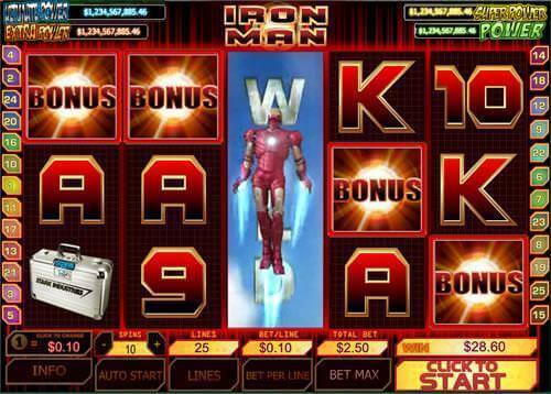 Iron Man™ Slot Machine Game to Play Free in Cryptologics Online Casinos