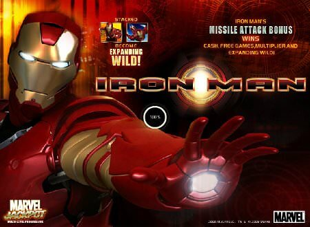 Screenshot image of Iron Man slots machine featured image
