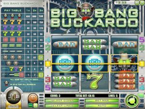 Screenshot image of the Big Bang Buckaroo Wild symbol