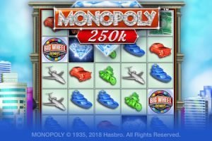 Screenshot image of the Monopoly 250k slots Jackpot game