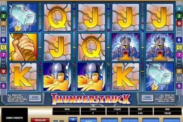 Screenshot image of Thunderstruck slot game
