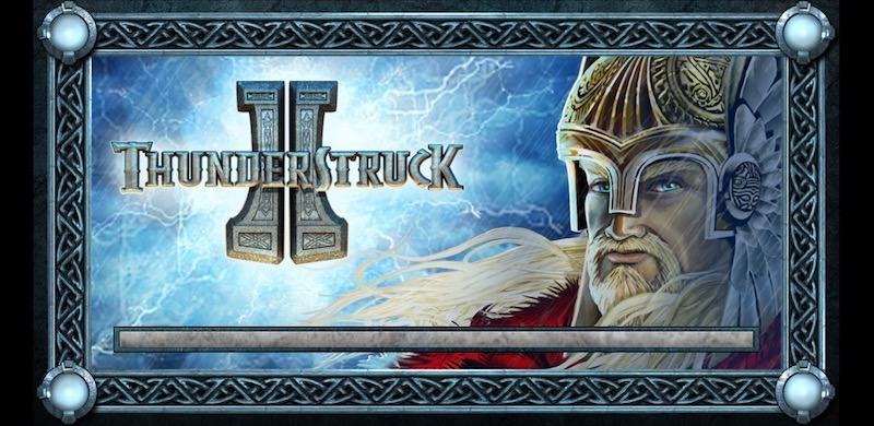 Loading screen for Thunderstruck 2 slot