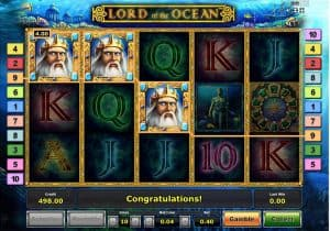 Screenshot of the Lord of the Ocean slots online game