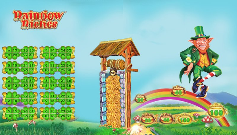 Screenshot image of the Rainbow Riches bingo game