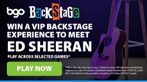 Promotional image of the Win VIP passes to see Ed Sheeran giveaway promotion