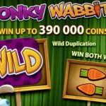 Screenshot image of the Wonky Wabbits Wild and Win Both Ways feature