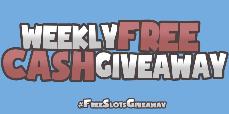 Header image for the Weekly cash free giveaway promotion page