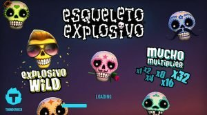 Loading screen of the Esqueleto explosivo slot game