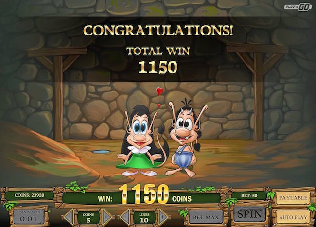 Screenshot image of Hugo slots free spins win bonus