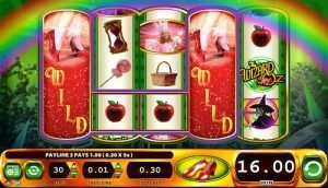 Screenshot image of the Wizard of Oz slot machine